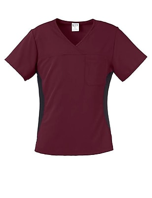 Michigan AVE.™ Yoga Scrub Top, Wine, 3XL