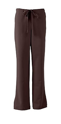 Melrose AVE.™ Combo Elastic Waist Ladies Scrub Pant, Chocolate, Large