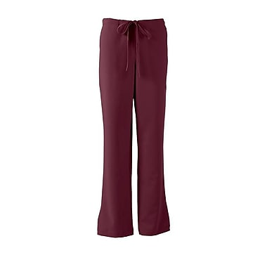 Melrose AVE.™ Combo Elastic Waist Ladies Scrub Pant, Wine, Large
