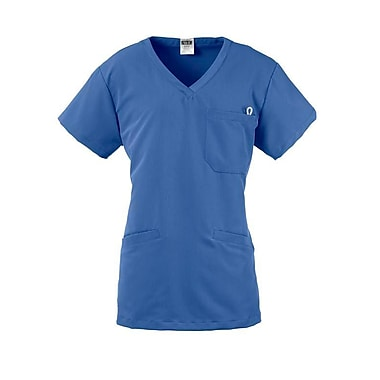 Berkeley AVE.™ Ladies Scrub Top With Welt Pockets, Ceil Blue, XL