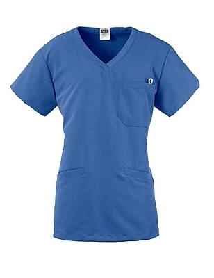 Berkeley AVE.™ Ladies Scrub Top With Welt Pockets, Ceil Blue, 3XL