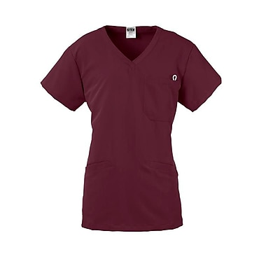 Berkeley AVE.™ Ladies Scrub Top With Welt Pockets, Wine, XL
