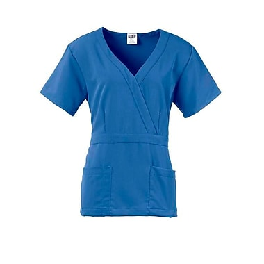 Park AVE.™ Mock Wrap Ladies Scrub Top, Ceil Blue, Medium