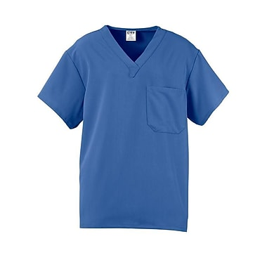 Fifth AVE.™ Unisex Traditional Scrub Top With One Pocket, Ceil Blue, 2XL