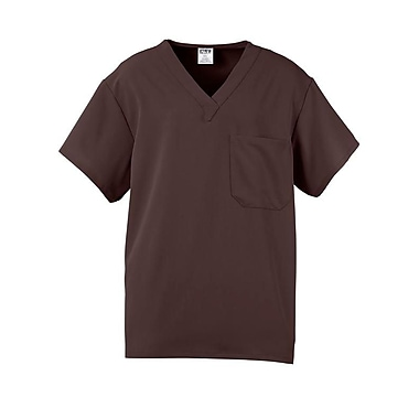 Fifth AVE.™ Unisex Scrub Top, Chocolate, Small