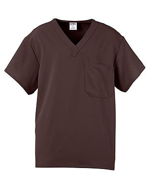 Fifth AVE.™ Unisex Scrub Top, Chocolate, Medium