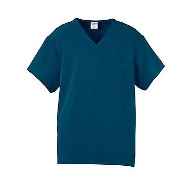 Medline Fifth ave Unisex 2XL Scrub Top, Caribbean Blue (5910CRBXXL)