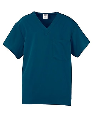 Medline Fifth ave Unisex XS Scrub Top, Caribbean Blue (5910CRBXS)