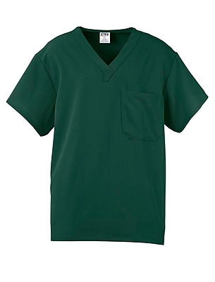 Fifth AVE.™ Unisex Scrub Top, Hunter Green, Medium