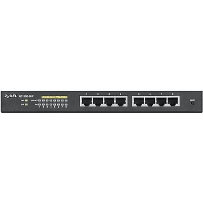 Zyxel GS1900 Smart Managed Gigabit Ethernet Switch, 8 Port