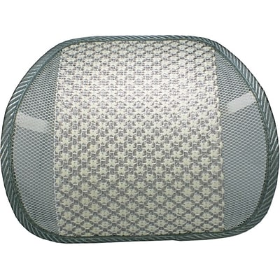 QVS LBP-2A Premium Ergonomic Lumbar Back Support With Woven Pad, Cream/Gray IM1TW8136