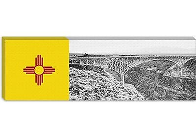 iCanvas Flags New Mexico Rio Grande Panoramic Graphic Art on Canvas; 16'' H x 48'' W x 0.75'' D