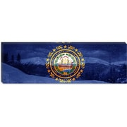 iCanvas Flags New Hampshire Mount Washington Panoramic Graphic Art on Canvas
