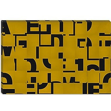 iCanvas Modern Scrambled ll Graphic Art on Canvas; 12'' H x 18'' W x 1.5'' D