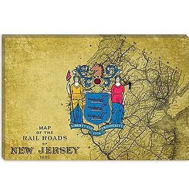 iCanvas Flags New Jersey Graphic Art on Canvas; 40'' H x 60'' W x 1.5'' D