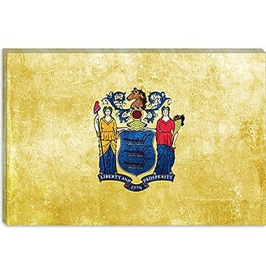 iCanvas Flags New Jersey Graphic Art on Canvas; 12'' H x 18'' W x 1.5'' D