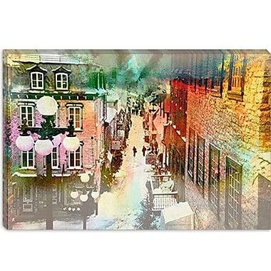 iCanvas Canada Quebec City, Lower Town #2 Painting Print on Canvas; 18'' H x 26'' W x 0.75'' D