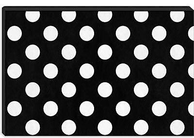 iCanvas Modern cPolka Dots Graphic Art on Canvas; 26'' H x 40'' W x 1.5'' D