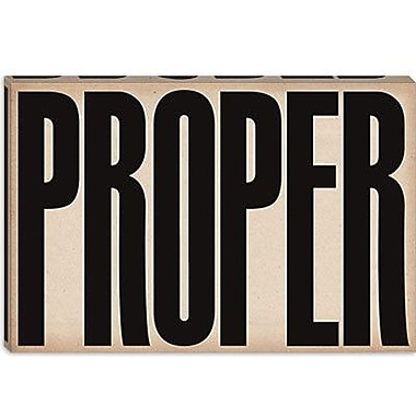 iCanvas Modern cProper Modern Textual Art on Canvas; 18'' H x 26'' W x 1.5'' D
