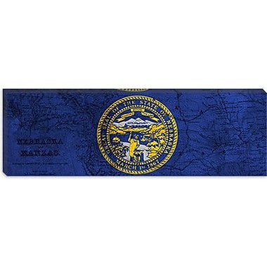 iCanvas Flags Nebraska Panoramic Graphic Art on Canvas; 12'' H x 36'' W x 1.5'' D