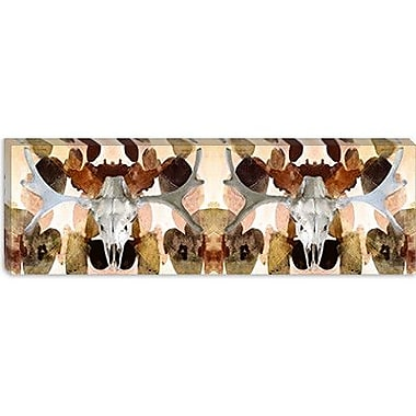 iCanvas Canada Moose Skull #2 Panoramic Graphic Art on Canvas; 16'' H x 48'' W x 0.75'' D