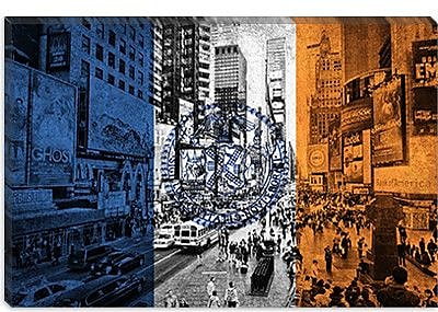 iCanvas Flags New York Times Square Graphic Art on Canvas; 12'' H x 18'' W x 1.5'' D