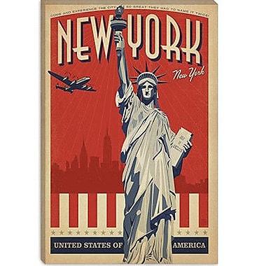 iCanvas Anderson Design Group 'New York City, New York' Vintage Advertisement on Canvas