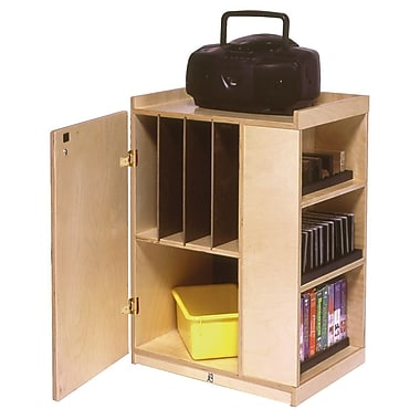 Steffy Audio Classroom Cabinet w/ Casters; With Lock