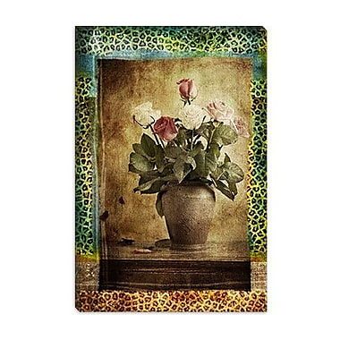 iCanvas ''Leopard Roses'' by Luz Graphics Painting Print on Canvas; 12'' H x 8'' W x 0.75'' D