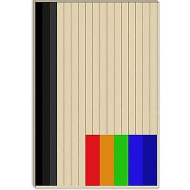 iCanvas Modern Rainbow Silo Graphic Art on Canvas; 40'' H x 26'' W x 1.5'' D