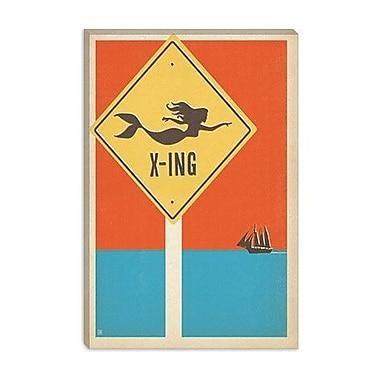 iCanvas Anderson Design Group 'Mermaid Crossing' Vintage Advertisment on Canvas