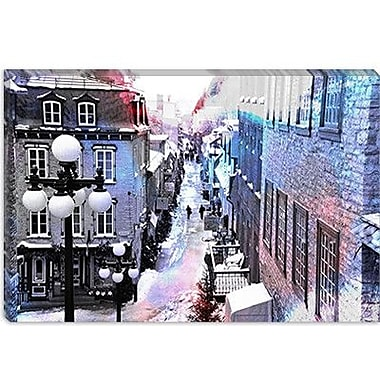 iCanvas Canada 'Quebec City, Lower Town' Painting Print on Canvas; 26'' H x 40'' W x 1.5'' D