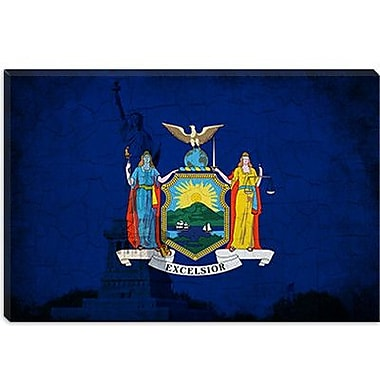 iCanvas Flags New York Statue of Liberty Graphic Art on Canvas; 12'' H x 18'' W x 1.5'' D