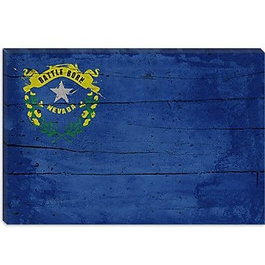 iCanvas Flags Nevada Planks Graphic Art on Canvas; 18'' H x 26'' W x 0.75'' D