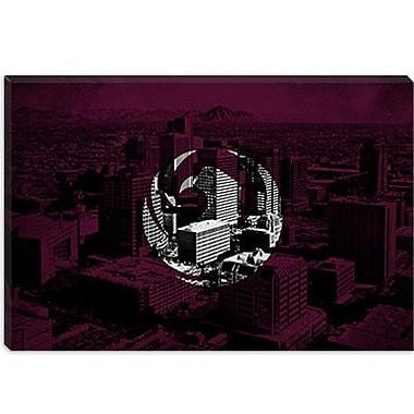 iCanvas Phoenix, Arizona Flag Grunge City Skyline Graphic Art on Canvas; 26'' H x 40'' W x 0.75'' D