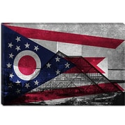 iCanvas Flags Ohio Rock and Roll Hall of Fame Graphic Art on Canvas; 40'' H x 60'' W x 1.5'' D