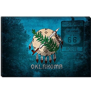 iCanvas Flags Oklahoma Route 66 Graphic Art on Canvas; 26'' H x 40'' W x 0.75'' D