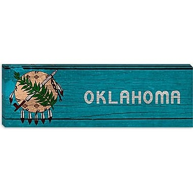 iCanvas Flags Oklahoma Panoramic Graphic Art on Canvas; 16'' H x 48'' W x 0.75'' D