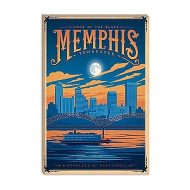 iCanvas Anderson Design Group 'Memphis, Tennessee' Vintage Advertisment on Canvas