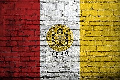 iCanvas San Diego Flag, Brick Graphic Art on Canvas; 18'' H x 26'' W x 0.75'' D