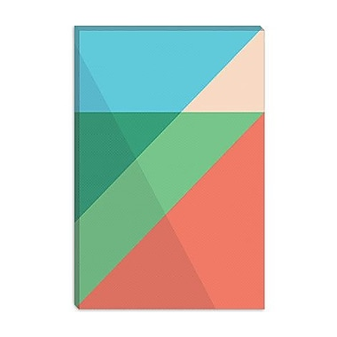 iCanvas Modern Overlapped Triangles Graphic Art on Canvas; 18'' H x 12'' W x 1.5'' D