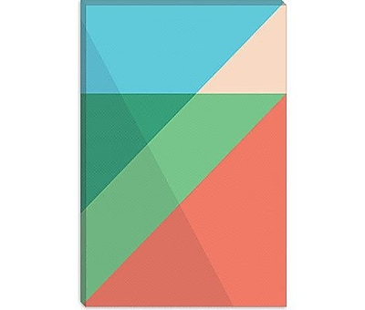 iCanvas Modern Overlapped Triangles Graphic Art on Canvas; 40'' H x 26'' W x 1.5'' D