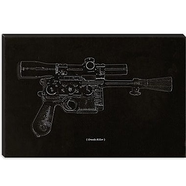 iCanvas Modern Greedo Killer Schematics Graphic Art on Canvas; 26'' H x 40'' W x 0.75'' D