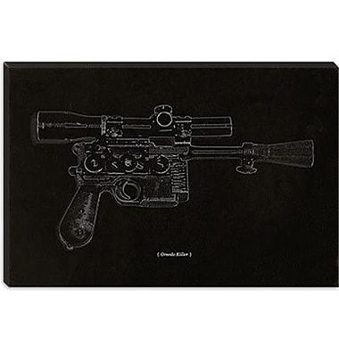 iCanvas Modern Greedo Killer Schematics Graphic Art on Canvas; 18'' H x 26'' W x 1.5'' D