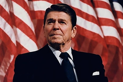 iCanvas Political 'Ronald Reagan Portrait' Photographic Print on Canvas; 12'' H x 18'' W x 0.75'' D