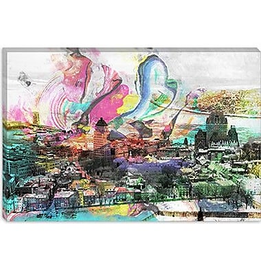 iCanvas Canada Quebec City, Lower Town #4 Graphic Art on Canvas; 12'' H x 18'' W x 0.75'' D