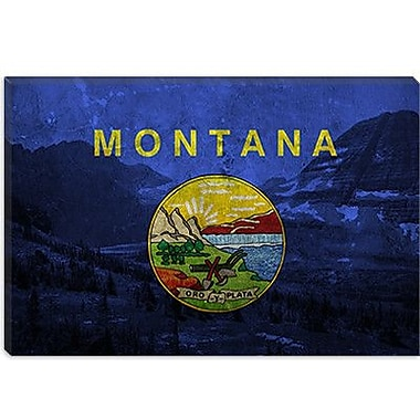 iCanvas Flags Montana Glacier National Park Graphic Art on Canvas; 18'' H x 26'' W x 1.5'' D