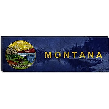 iCanvas Flags Montana Lake McDonald Panoramic Graphic Art on Canvas; 12'' H x 36'' W x 1.5'' D