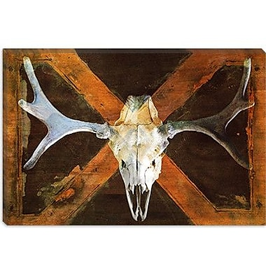 iCanvas Canada Moose Skull Graphic Art on Canvas; 18'' H x 26'' W x 0.75'' D