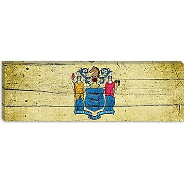 iCanvas Flags New Jersey Planks Panoramic Graphic Art on Canvas; 16'' H x 48'' W x 1.5'' D